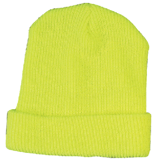 High Visibility Knitted Cap Lime/Yellow