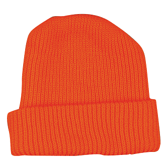 High Visibility Knitted Cap Orange THUMBNAIL