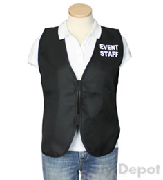 Black Womens' Event Vest