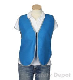 Light Blue Womens' Safety Vest THUMBNAIL