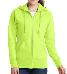 Neon Yellow Hooded Sweatshirt THUMBNAIL