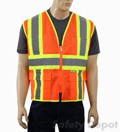 MESH CLASS 2 ORANGE SAFETY VEST