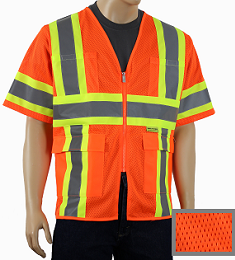 Orange Mesh Class 3 safety vest