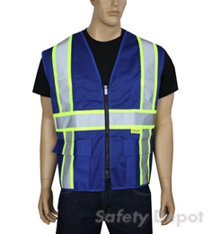 Professional Solid Royal Blue Vest