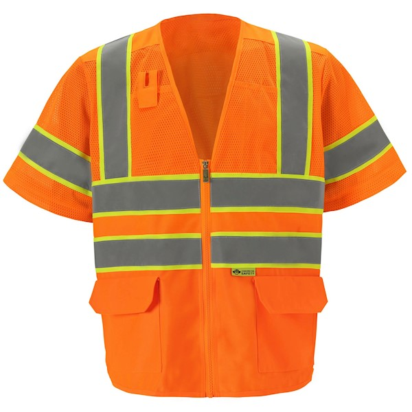 Orange Class 3 Mesh Safety Vest MAIN