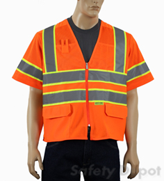 Orange Class 3 Mesh Safety Vest