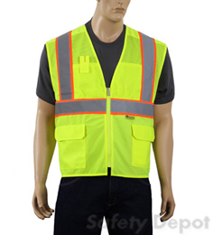 Yellow/Lime Mesh Safety Vest