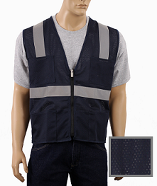 Navy Blue Mesh Safety Vest