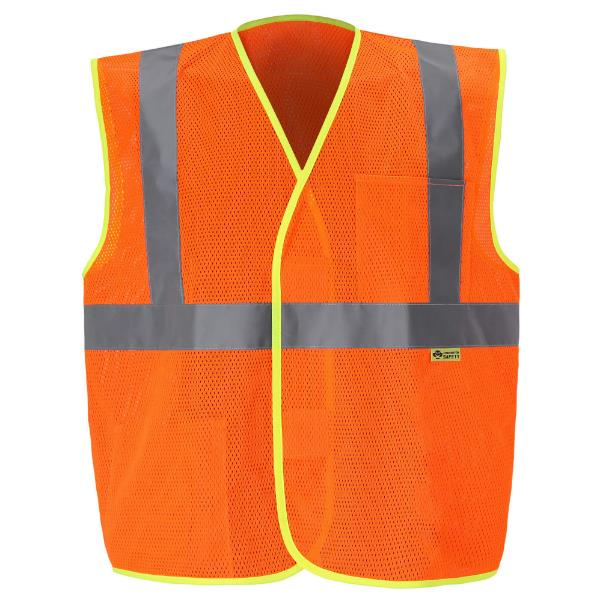 Orange Reflective Mesh Class 2 Safety Vest MAIN