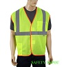yellow lime economy safety vest Mini-Thumbnail