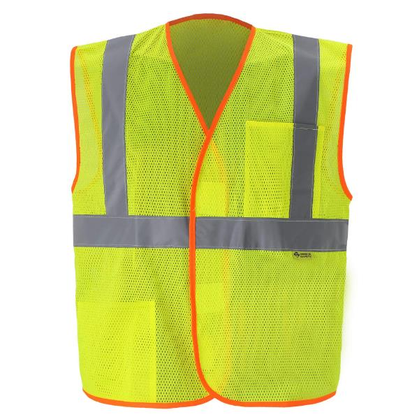 yellow lime economy safety vest MAIN