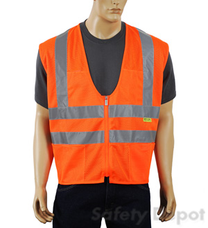 Orange Mesh Class 2 Safety Vest