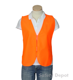 Orange Womens' Safety Vest THUMBNAIL