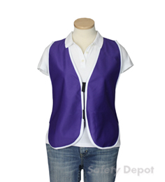 Purple Womens' Safety Vest