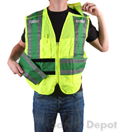 Green Public Safety Vest