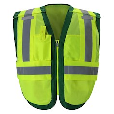 Public work Safety Vest PWB505-Green THUMBNAIL