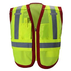 Public work Safety Vest PWB505-Red THUMBNAIL