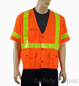 Orange Class 3 Safety Vest