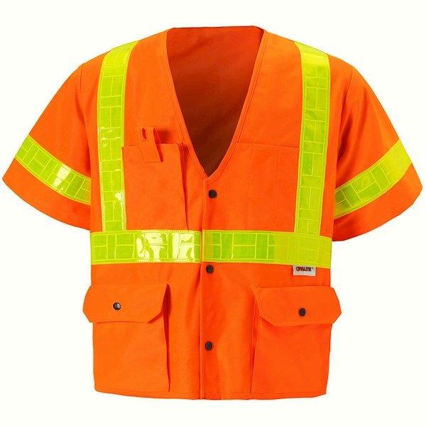 Orange Class 3 Safety Vest MAIN