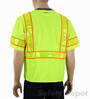 Class 3 Yellow Snap Front Safety Vest Mini-Thumbnail