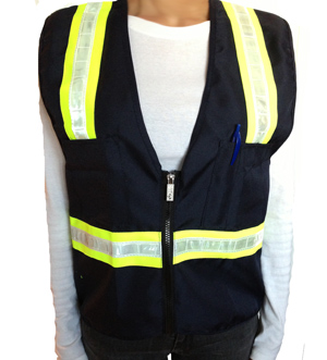 Blue Petite Safety Vest MAIN