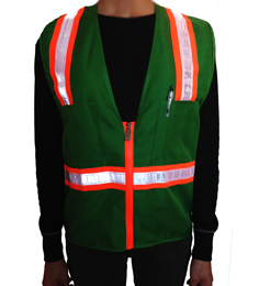 youth safety vest, green safety vest THUMBNAIL