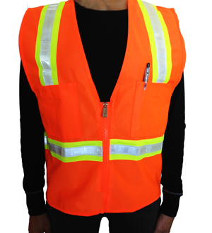Orange Petite Safety Vest MAIN
