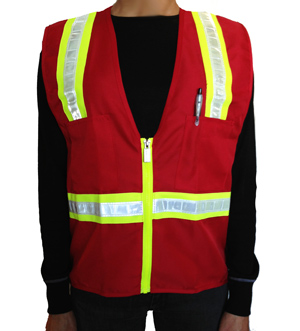 XS Youth Red Vest