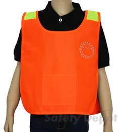 Children's Orange High Vis Safety Poncho THUMBNAIL