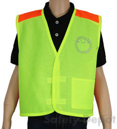 Children's Lime Velcro Safety Vest
