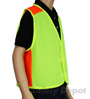 Children's Lime Velcro Safety Vest Mini-Thumbnail