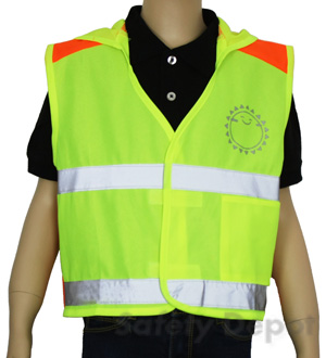Children's Lime Reflective Safety Vest MAIN