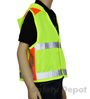 Children's Lime Reflective Safety Vest Mini-Thumbnail