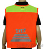 Children's Orange Velcro Safety Vest SWATCH