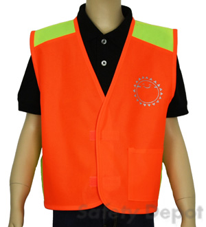 Children's Orange Velcro Safety Vest MAIN