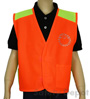 Children's Orange Velcro Safety Vest Mini-Thumbnail