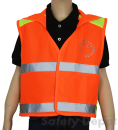 Children's Orange Reflective Vest THUMBNAIL