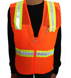 Orange Mesh Petite Safety Vest THUMBNAIL