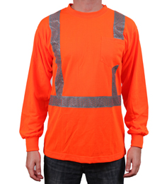 Orange Reflective Long Sleeve Shirt