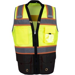 Black Bottom Two Toned Class 2 Safety Vest THUMBNAIL