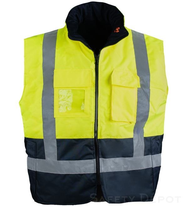 Lime Reflective Body Warmer MAIN