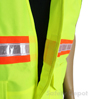 Lime Yellow Velcro Safety Vest Mini-Thumbnail