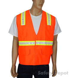 Orange Velcro Reflective Safety Vest