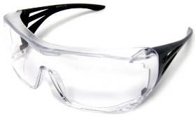 Clear safety eyeglass