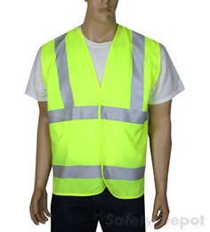 American Made Safety Vest Class 3 Yellow Velcro