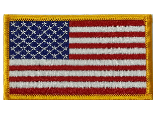 Embroidered American Flag THUMBNAIL