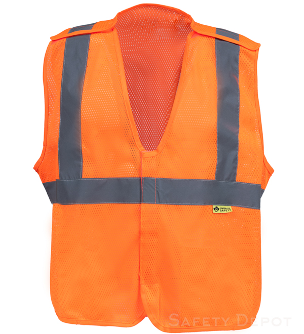 Orange Breakaway Safety Vests MAIN