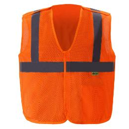 Orange Breakaway Safety Vests THUMBNAIL