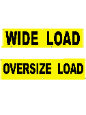 Wide Load Truck Banner THUMBNAIL