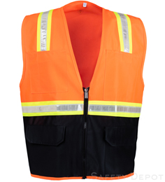 Orange Vest with Black Bottom THUMBNAIL